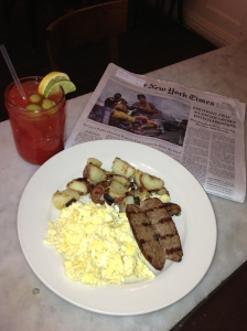 brunch and a paper